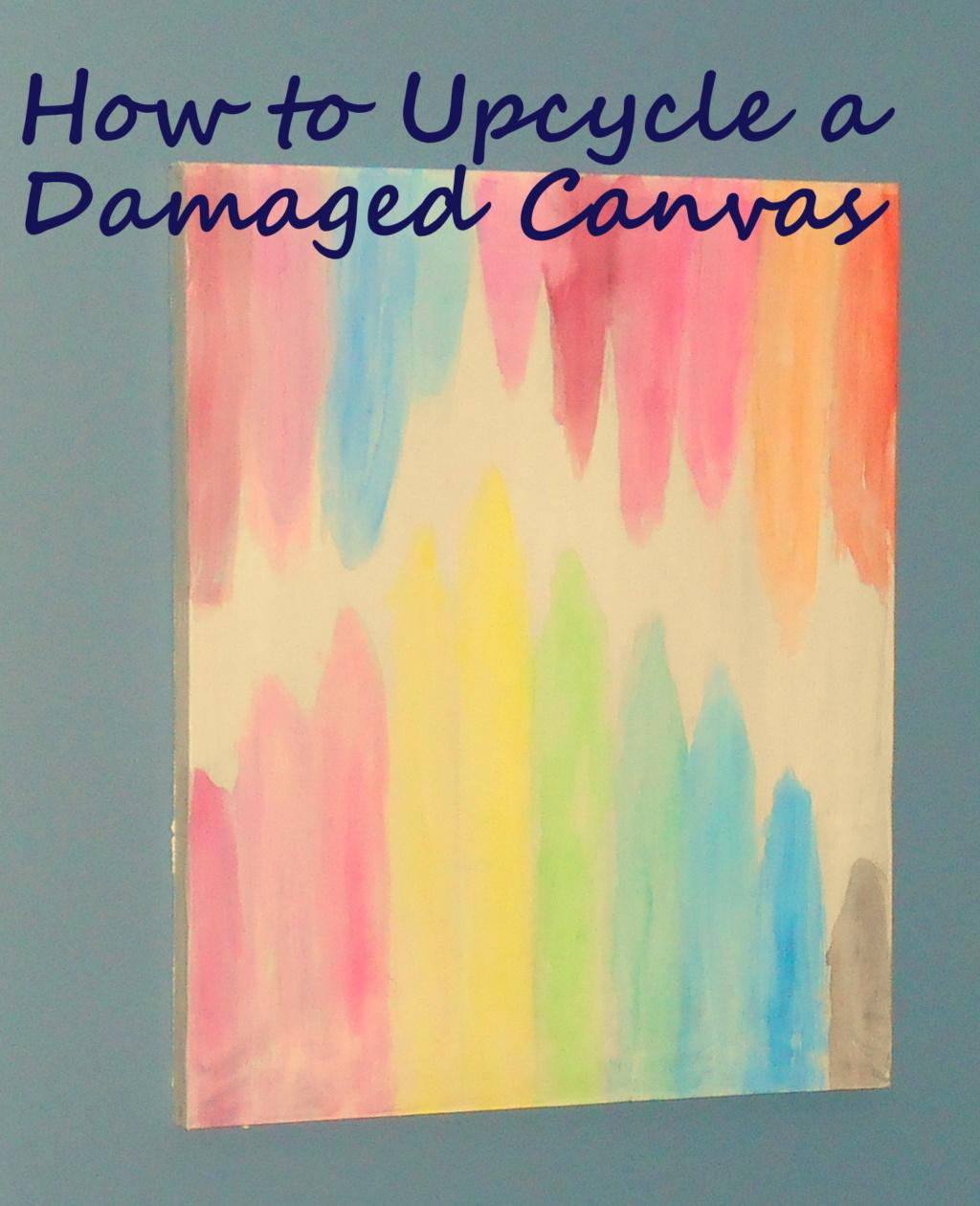 Repurposed, Upcycled, DIY, Watercolor, Canvas ART!