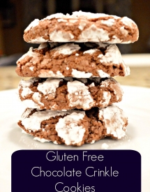 Gluten Free Chocolate Crinkle Cookies Stacked