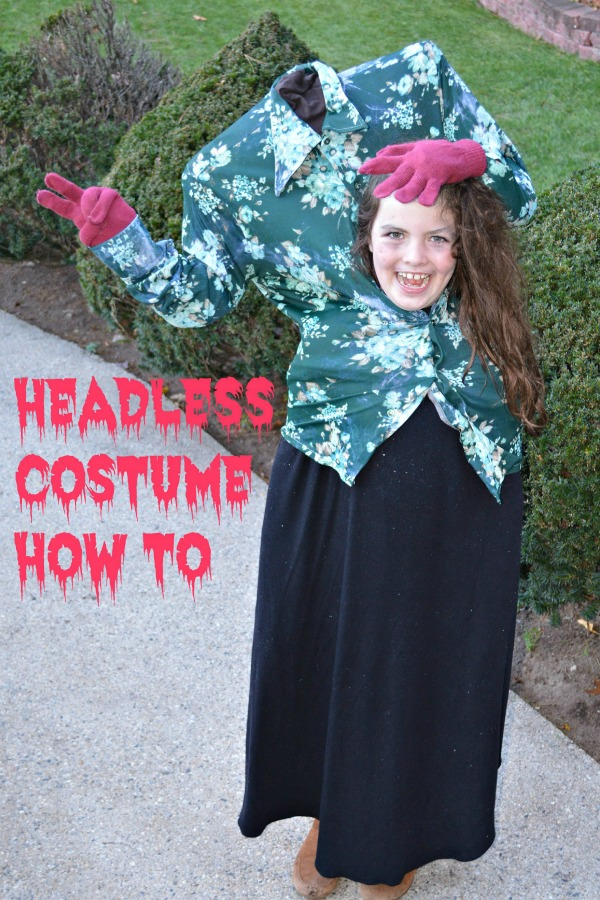 Headless Costume How To