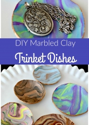 DIY Marbled Clay Trinket Dishes