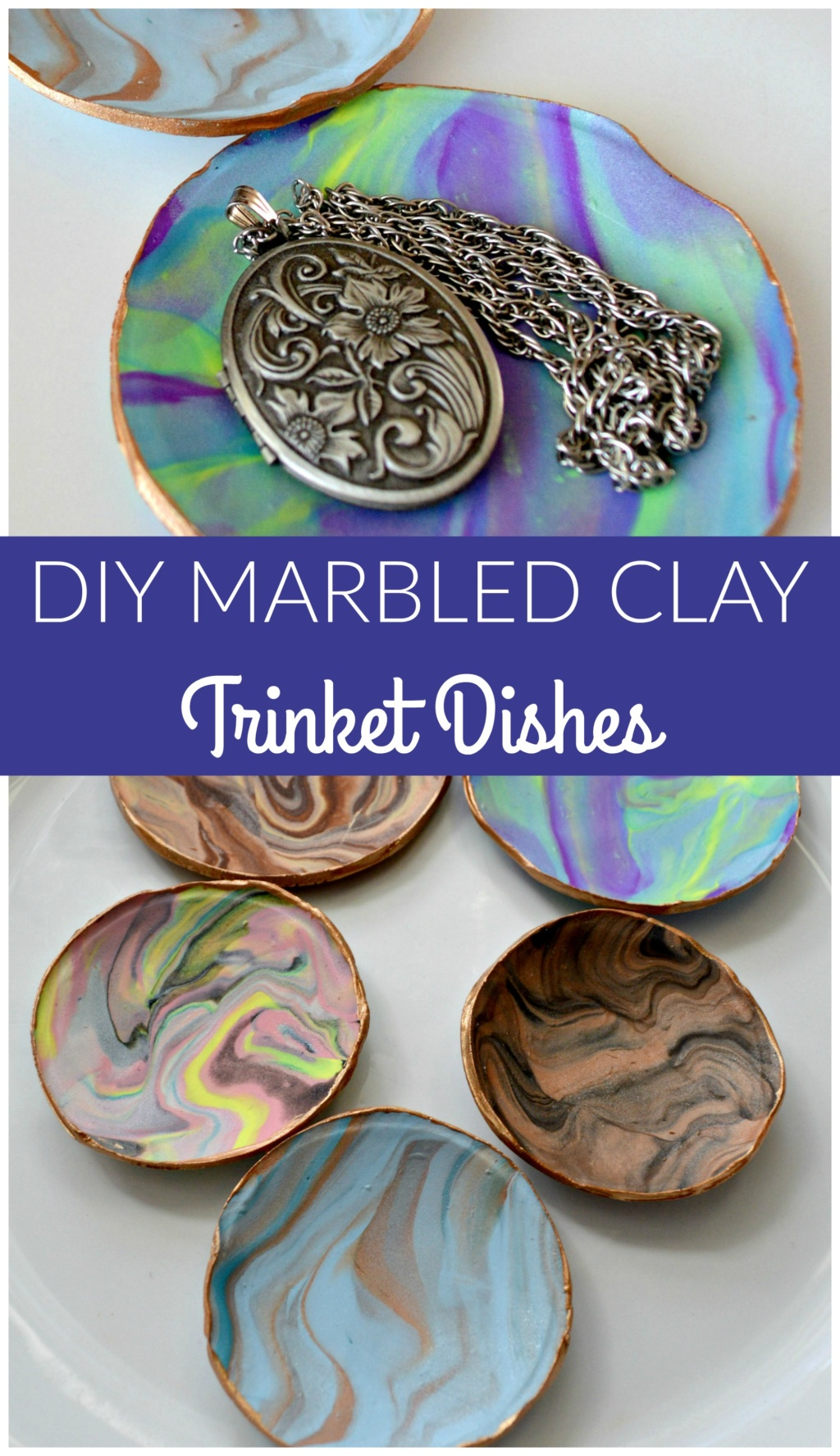 How to Make Marbled Clay Trinket Dishes