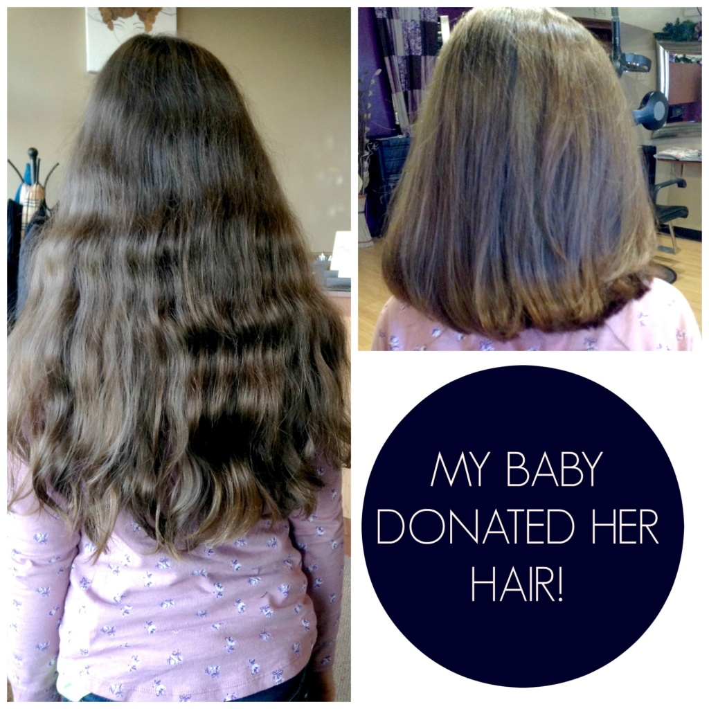 My Baby Donated Her Hair!