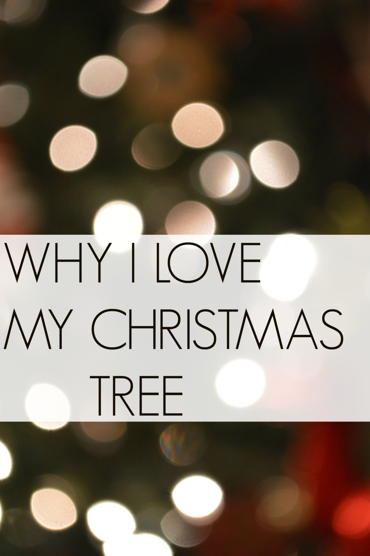 Why I Love My Christmas Tree