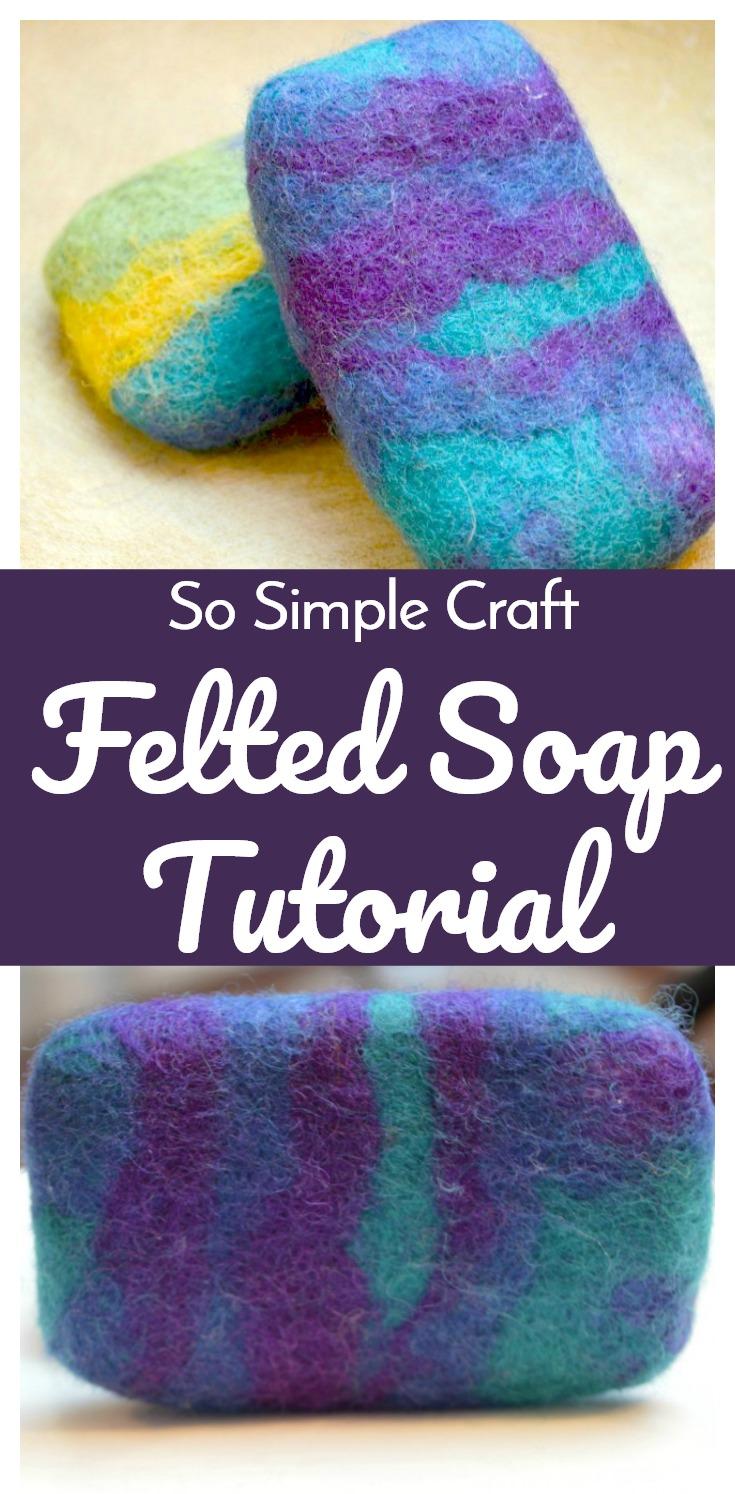 felted soap tutorial. Black Bedroom Furniture Sets. Home Design Ideas