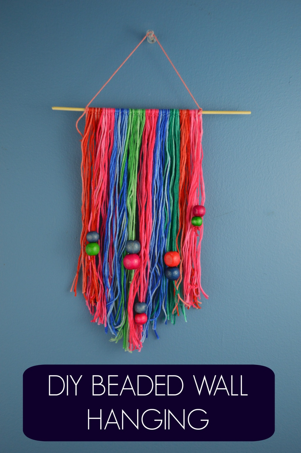 DIY Beaded Wall Hanging