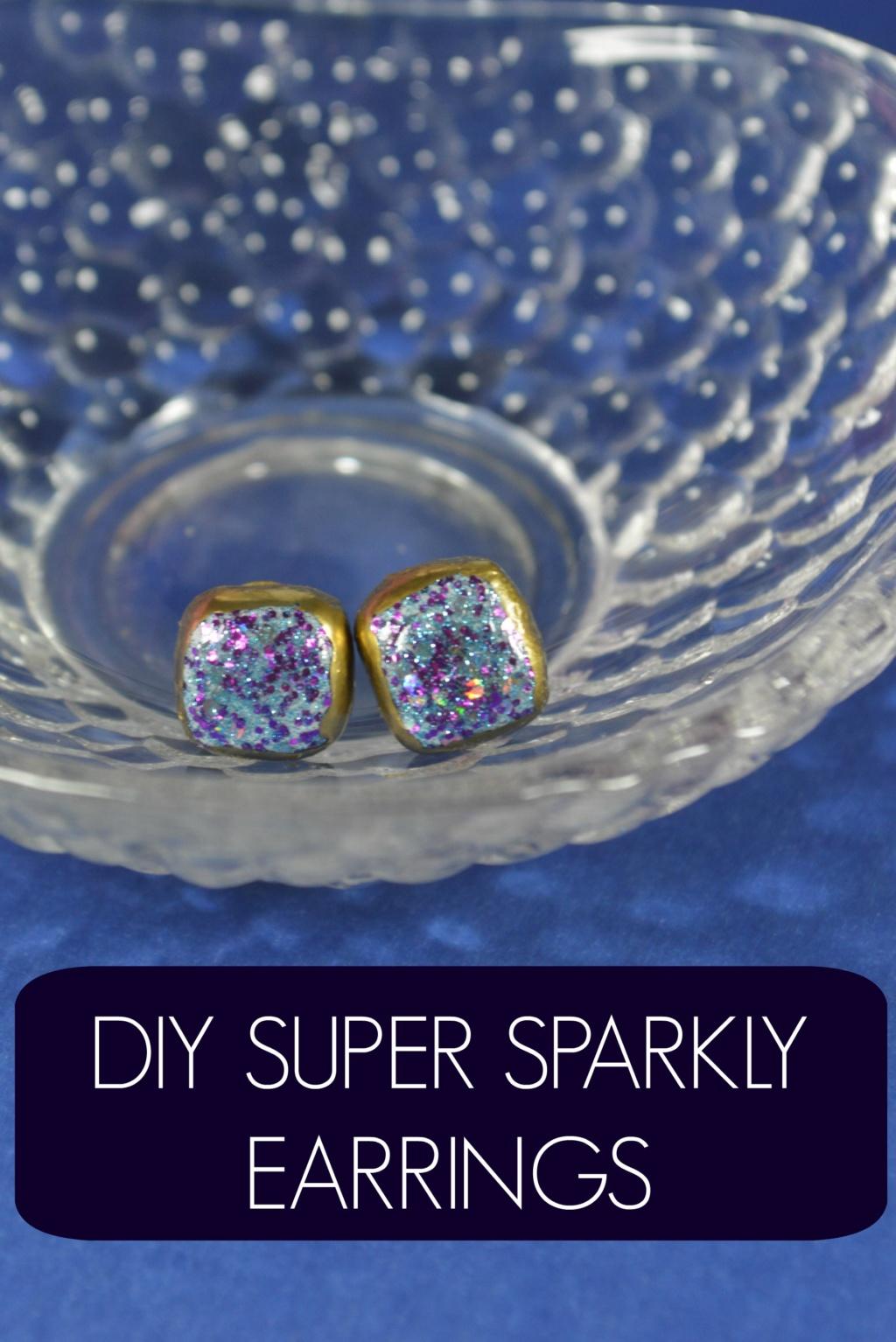 DIY Super Sparkly Earrings