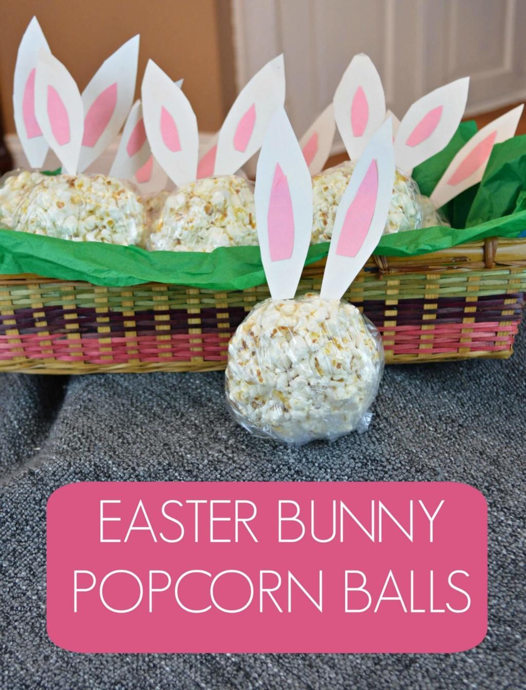 Easter Bunny Popcorn Balls