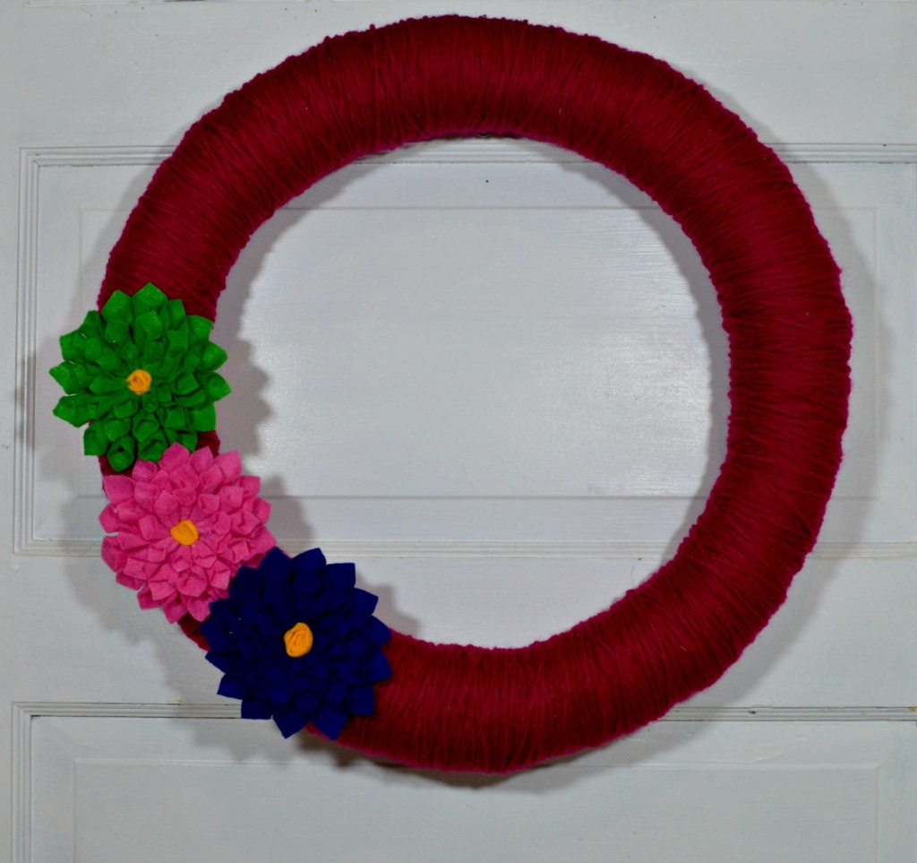 DIY Simple Spring Wreath