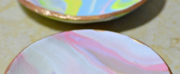 Marbled Clay Dishes