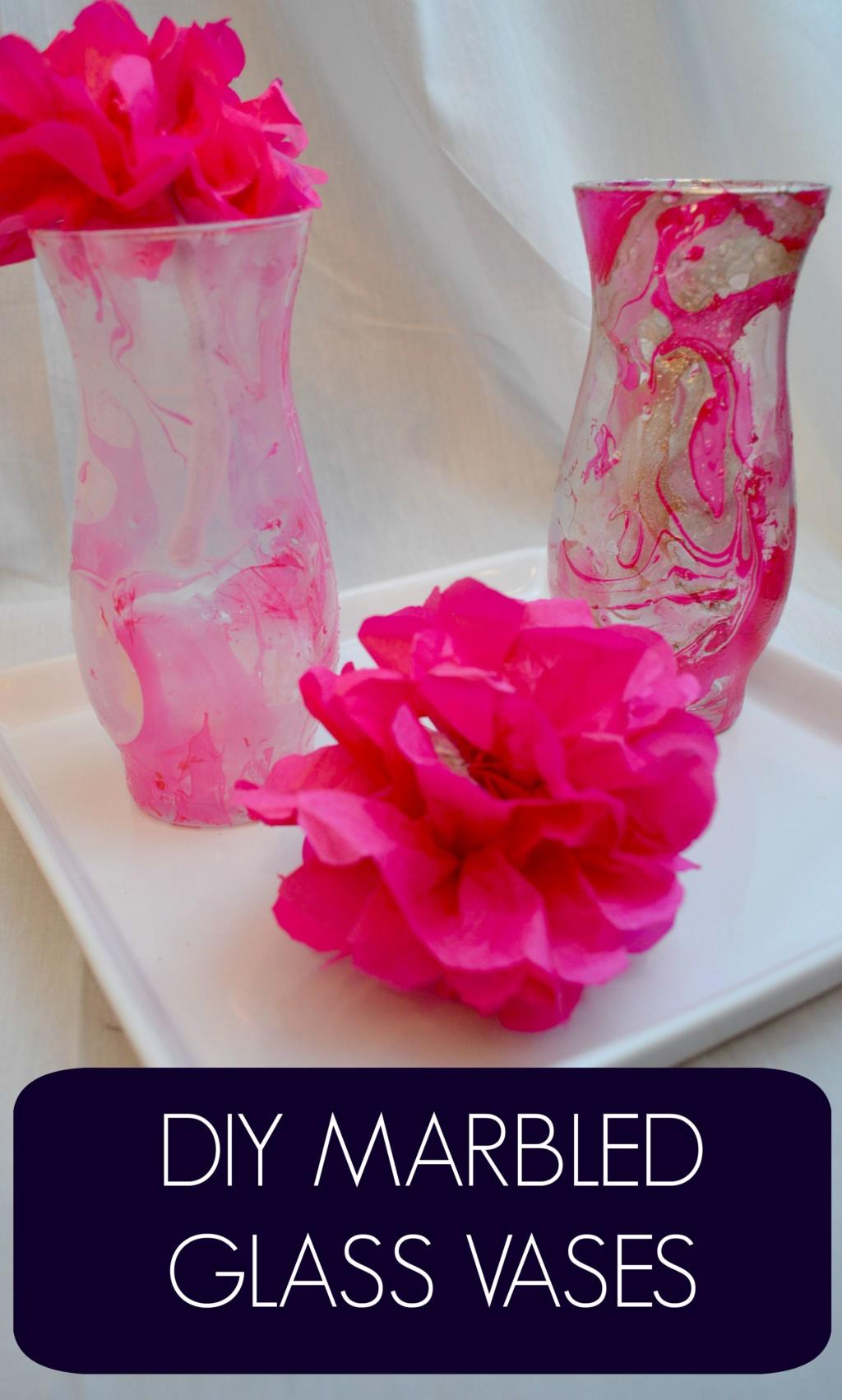 DIY Marbled Glass Vases