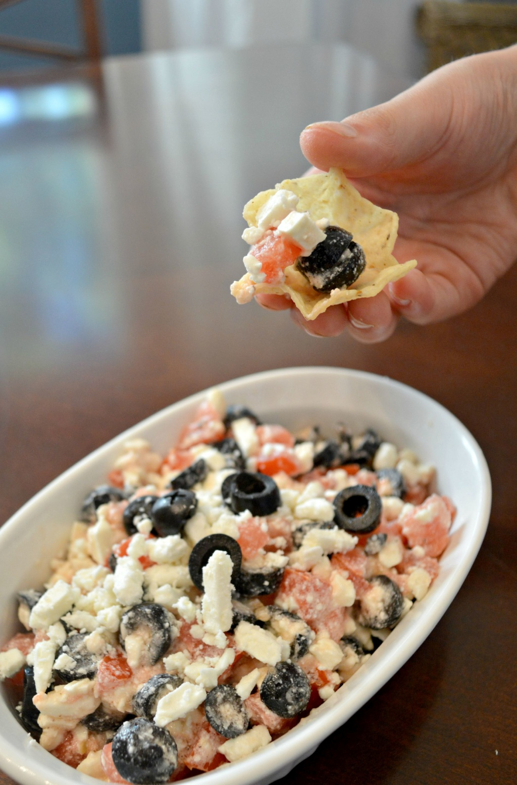 Feta, Tomato and Olive Dip