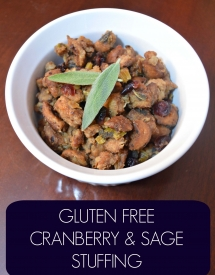 Gluten Free Cranberry and Sage Stuffing