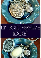 Locket with a Surprise - DIY Solid Perfume Locket