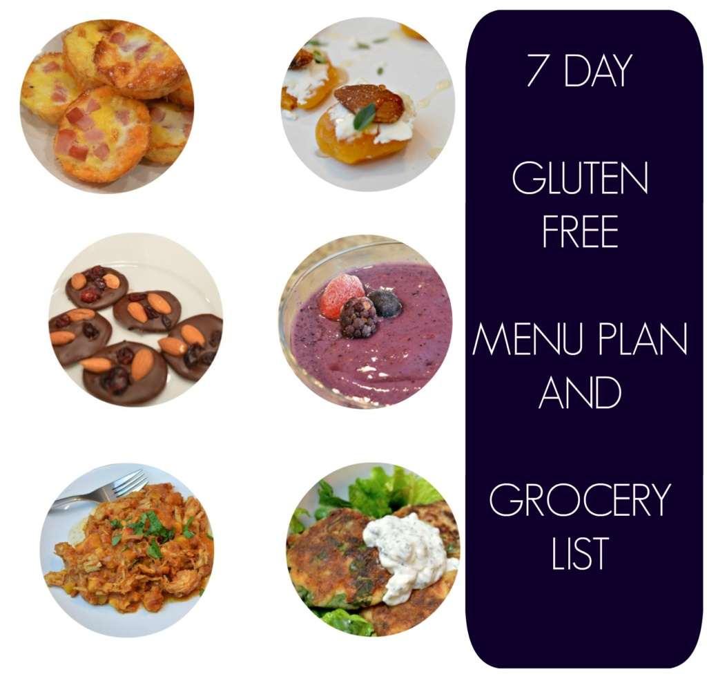 7 Day Gluten Free Menu Plan with Shopping List