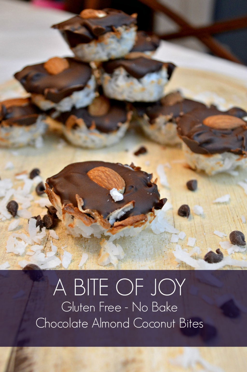 A Bite of Joy – Chocolate, Almond and Coconut Bites