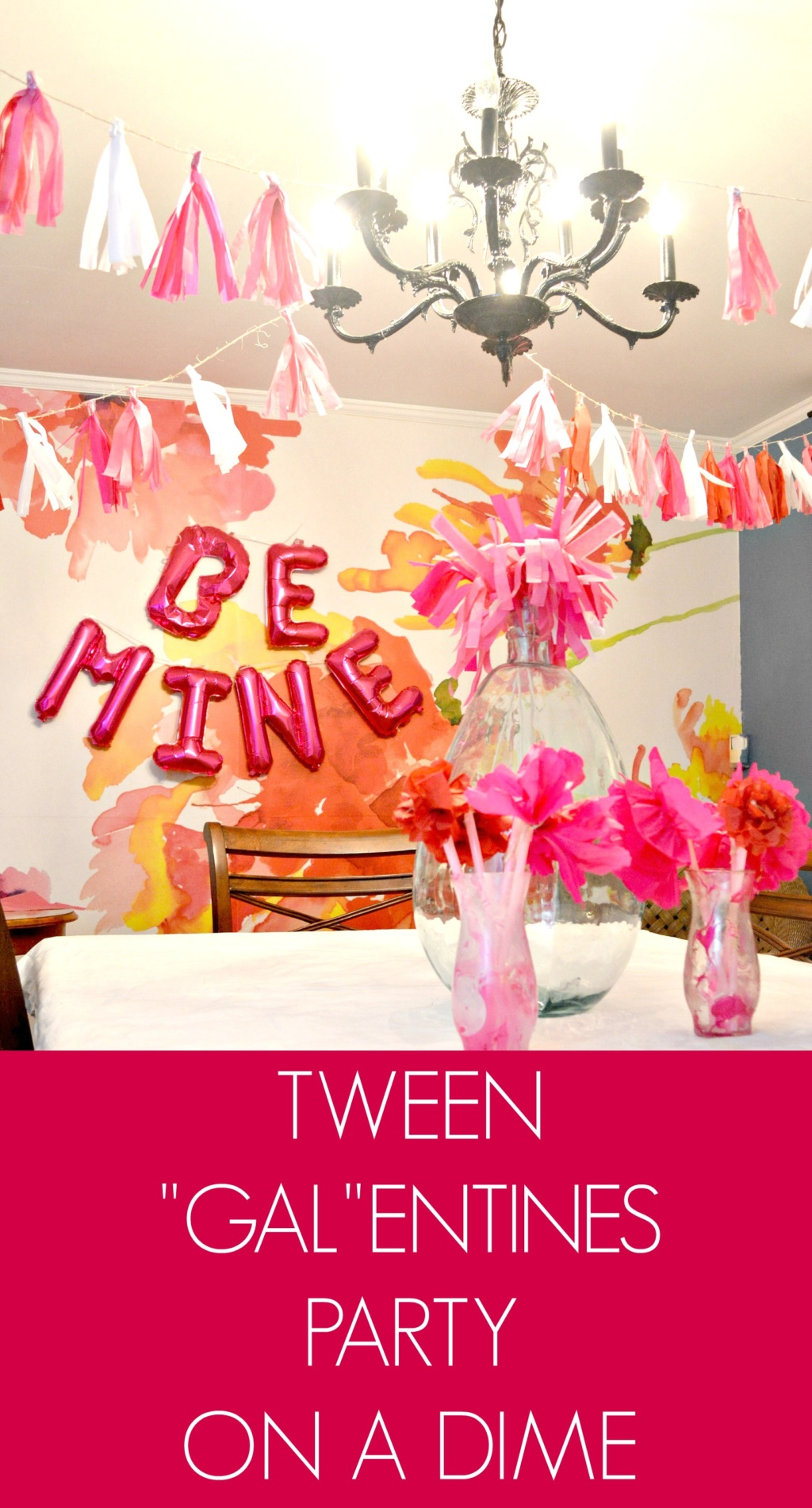 "Tween ""Gal""entine's Party on a Dime"