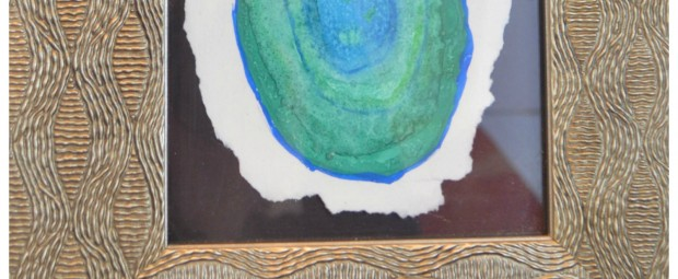 DIY Watercolor Agate Slice Painting