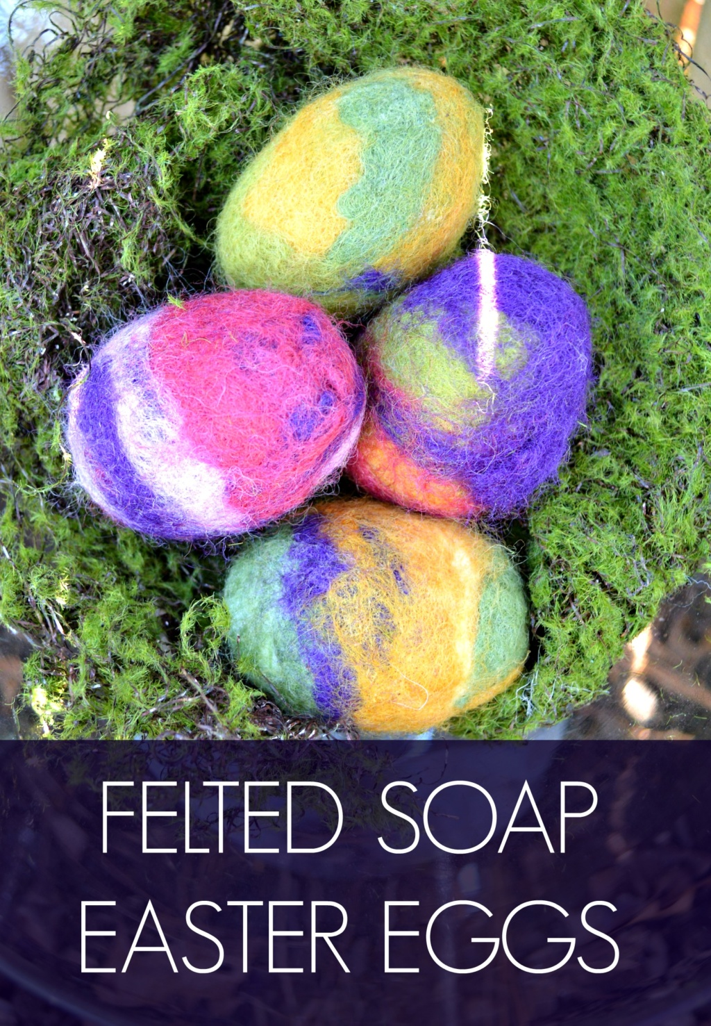 Felted Soap Easter Eggs