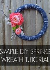 Simple DIY Spring Wreath Tutorial