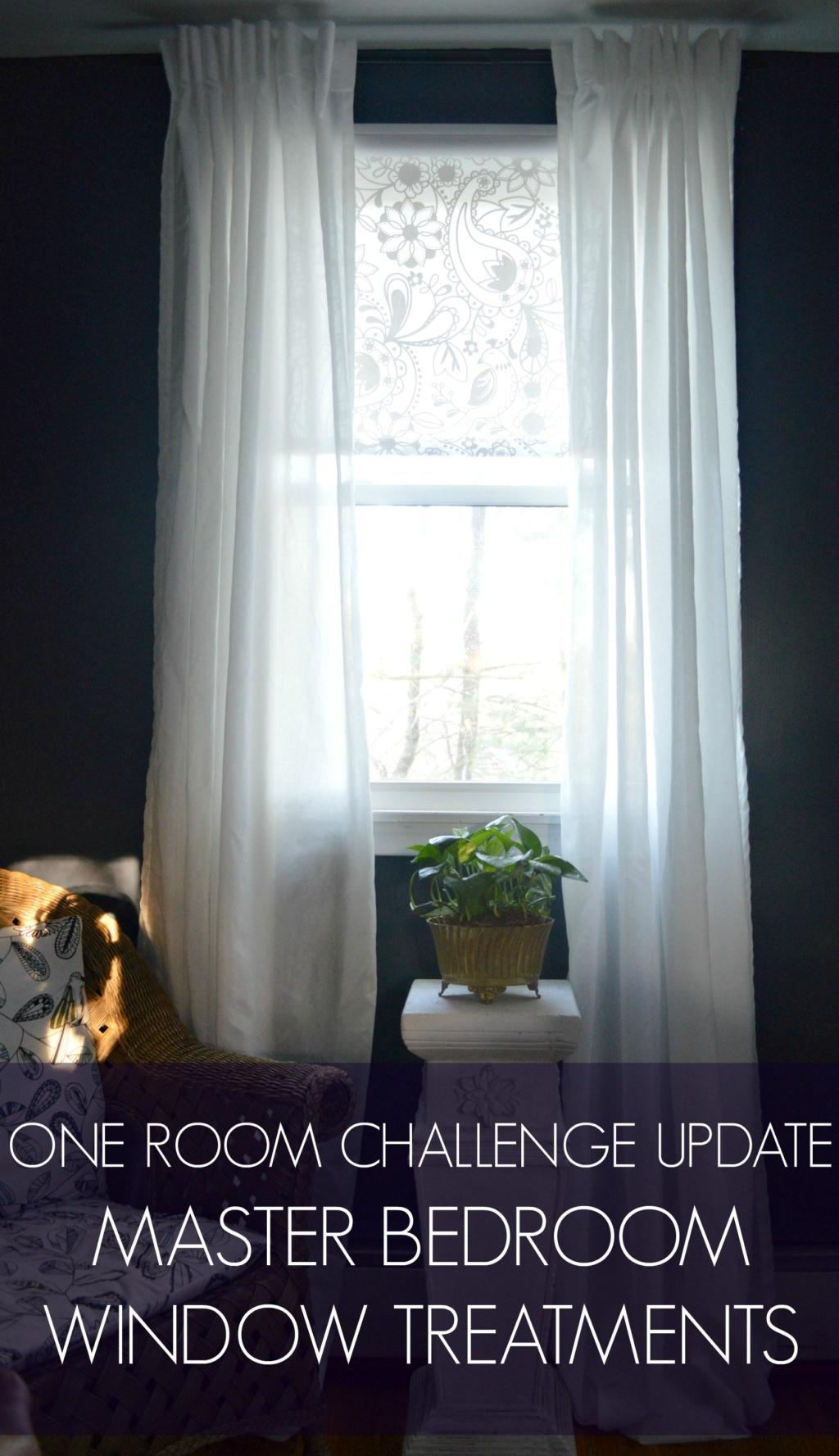 One Room Challenge Update – Master Bedroom Window Treatments