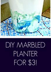 DIY Marbled Planter for $3