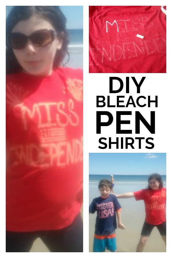 DIY Bleach Pen Shirts