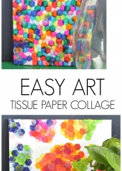 Easy Art - Tissue Paper Collage