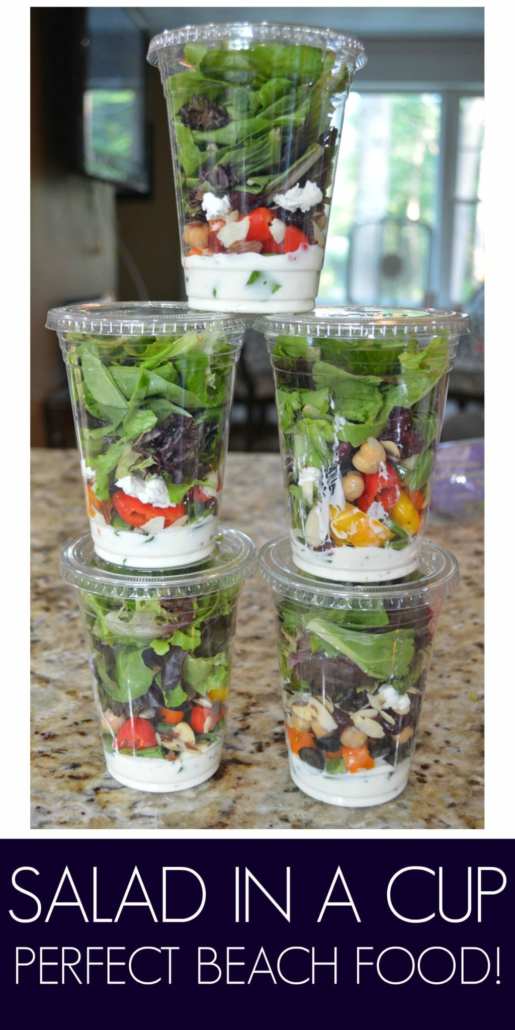 Salad in a Cup - Perfect Beach Food!