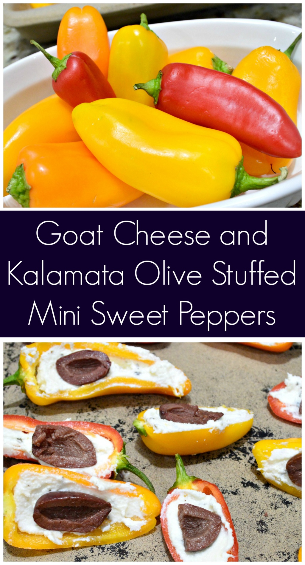 Goat Cheese and Kalamata Olive Stuffed Mini Sweet Peppers