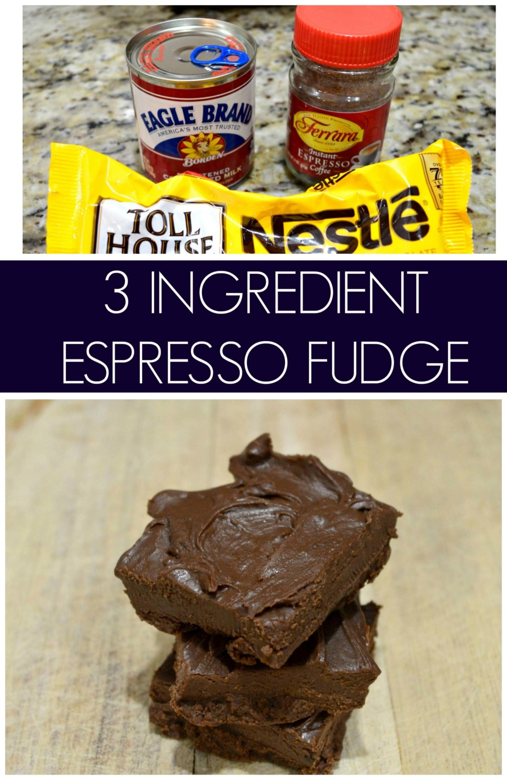 3 Ingredient Espresso Fudge