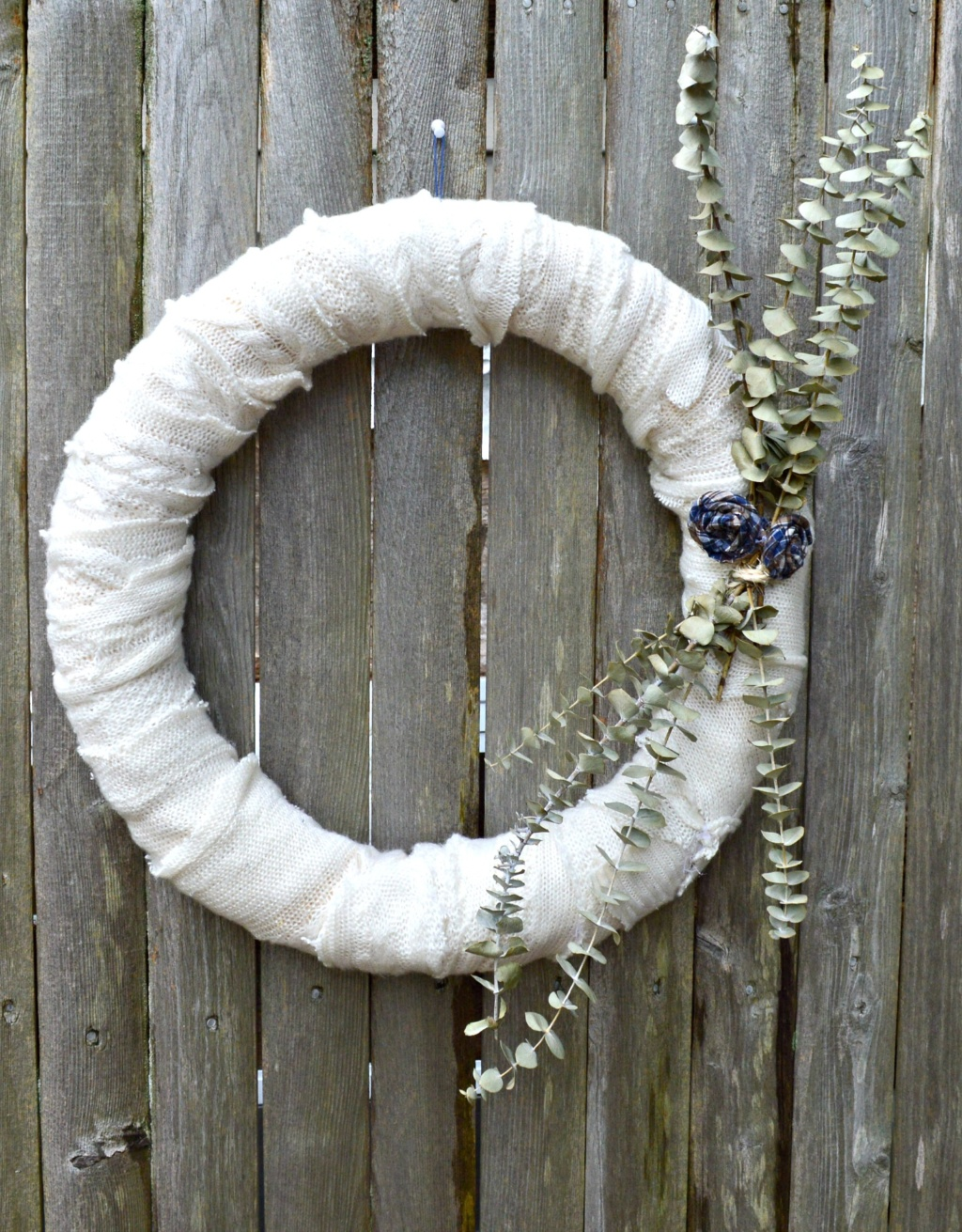 DIY Upcycled Fall Sweater Wreath