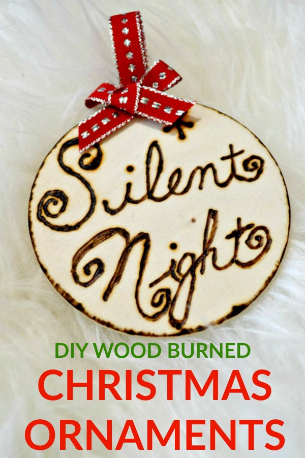 Diy Wood Burned Christmast Ornaments