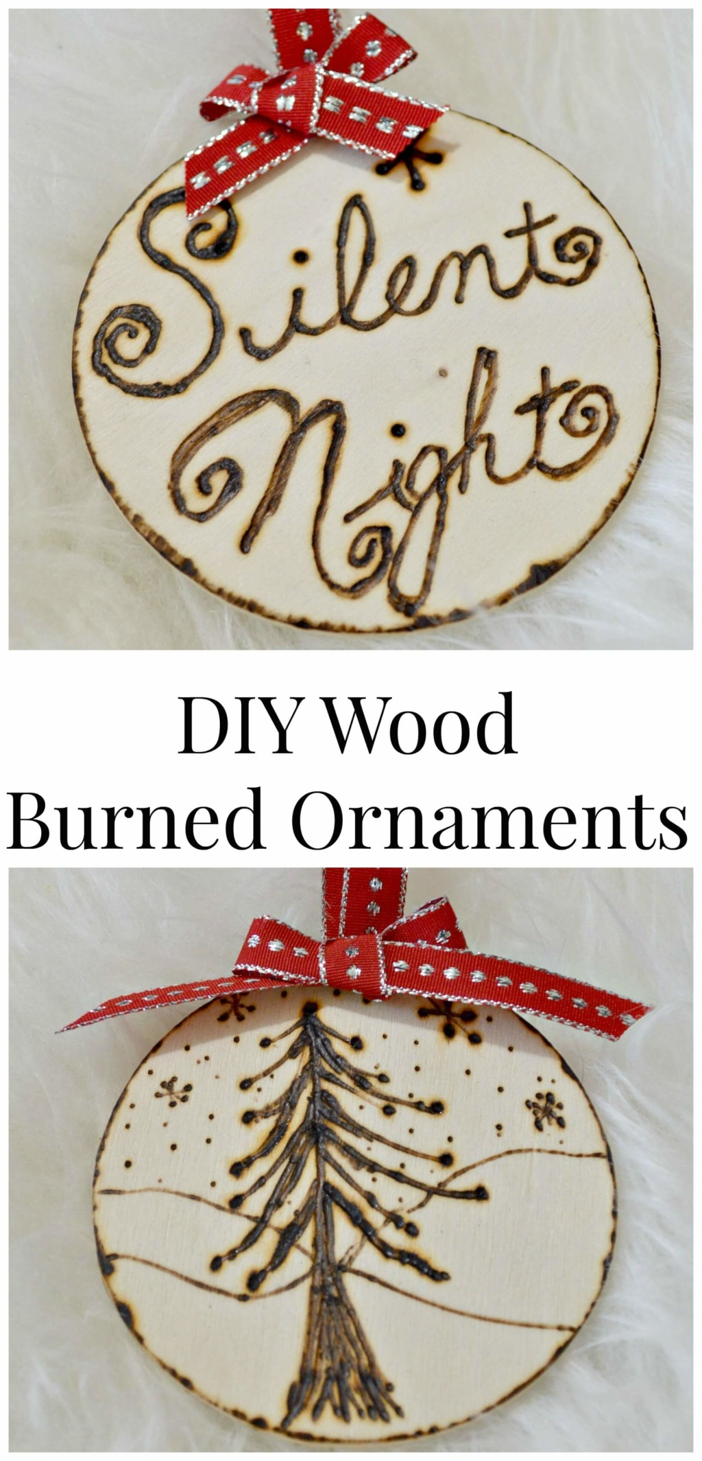 DIY Wood Burned Ornaments
