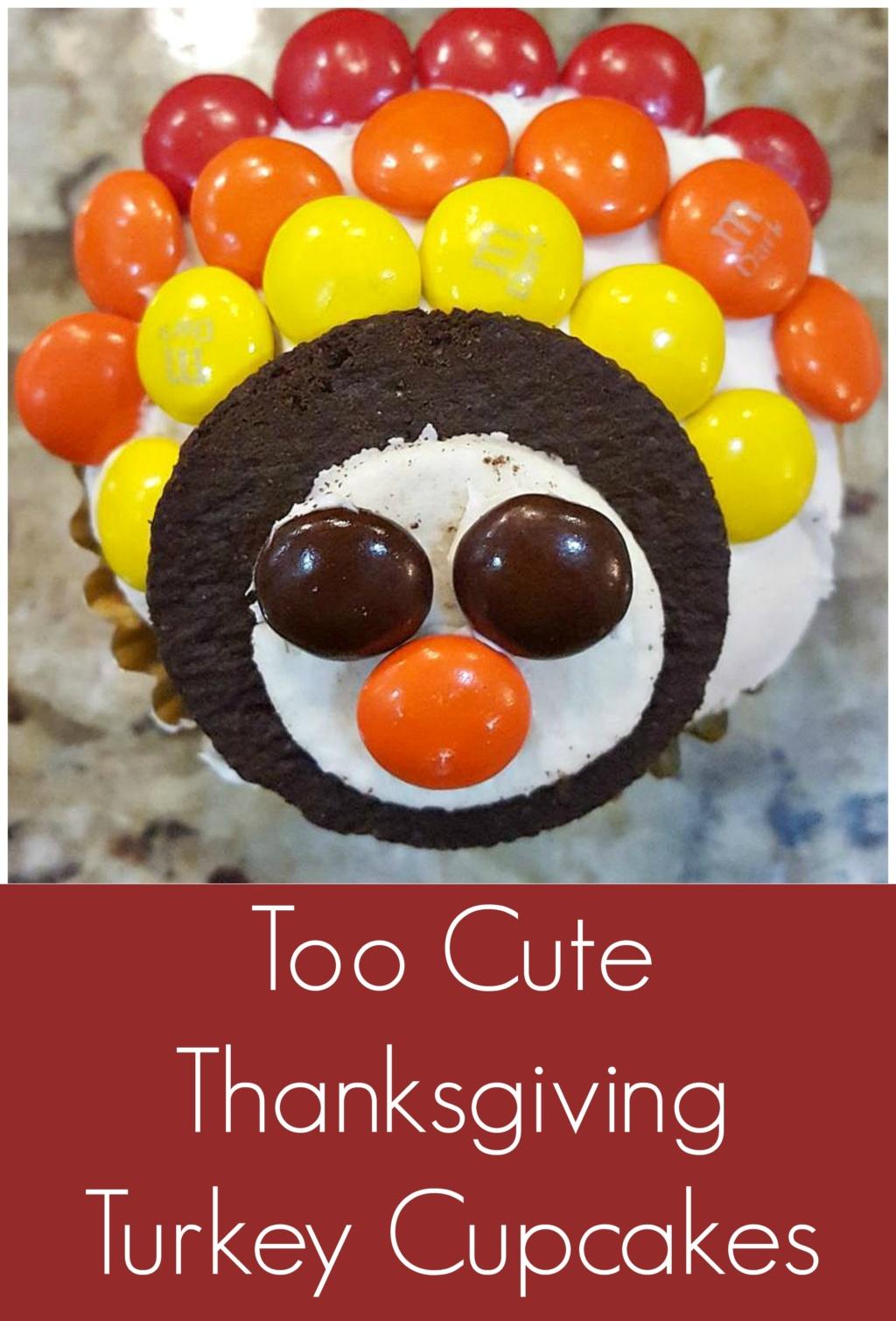 Thanksgiving Turkey Cupcakes – A Super Easy DIY