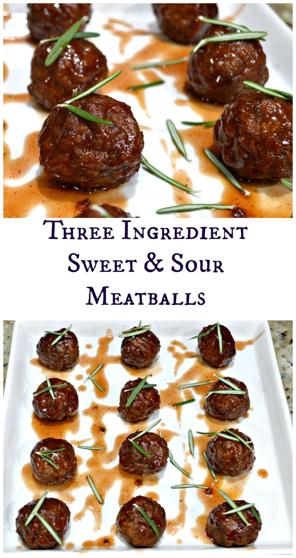 Three Ingredient Sweet & Sour Meatballs