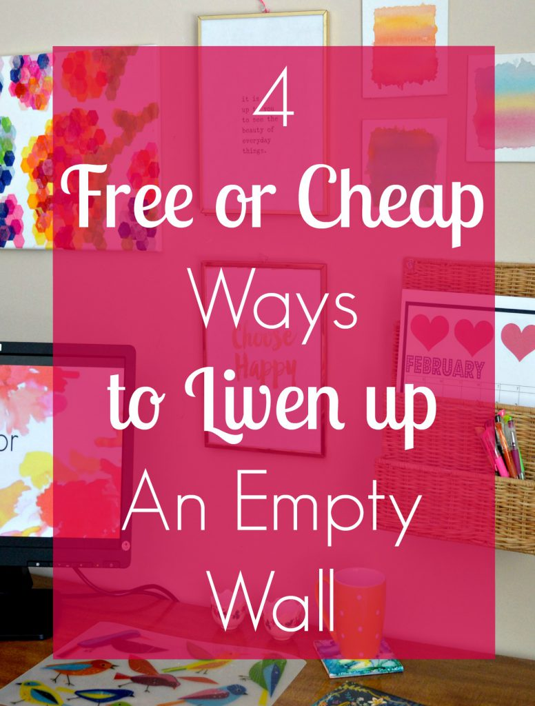 Cheap Ways to Liven Up a Boring Wall