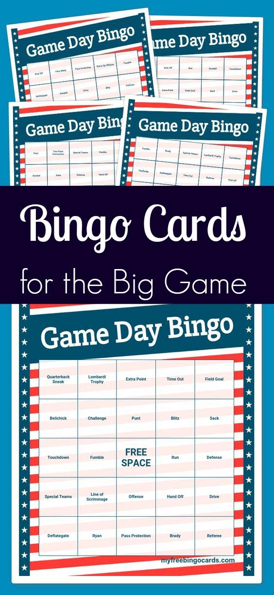 Game Day Bingo