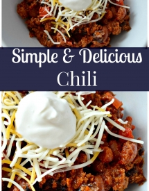Simple and Delicious Chili