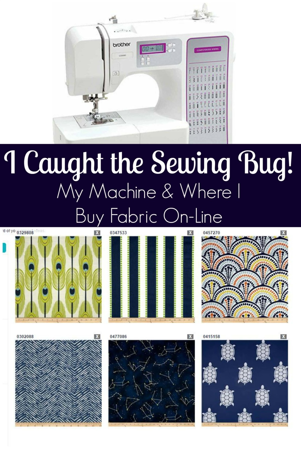 The Sewing Bug - My Machine and Where I Buy Fabric On-Line