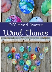 DIY Hand Painted Wind Chimes - 7th Grade Class Auction Project