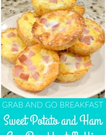 Grab and Go Breakfast - Sweet Potato and Ham Egg Breakfast Muffin