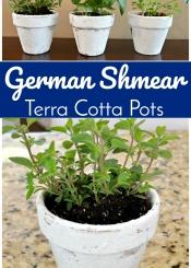 German Shmear Terra Cotta Pots