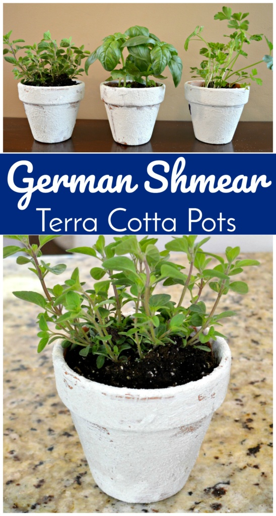 DIY German Shmear Terra Cotta Pots