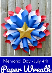 Memorial Day - July 4th Paper Wreath