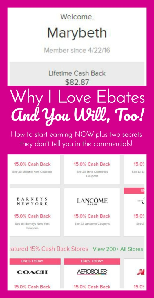 Why I Love Ebates and You Should, Too! Plus two secrets!