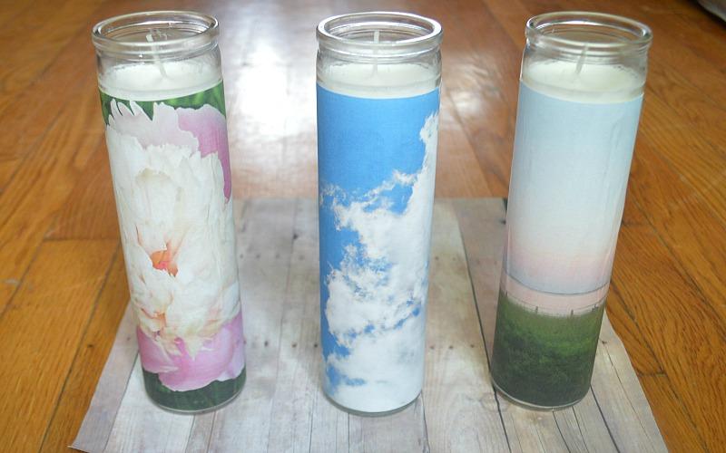 DIY Custom Photo Candles