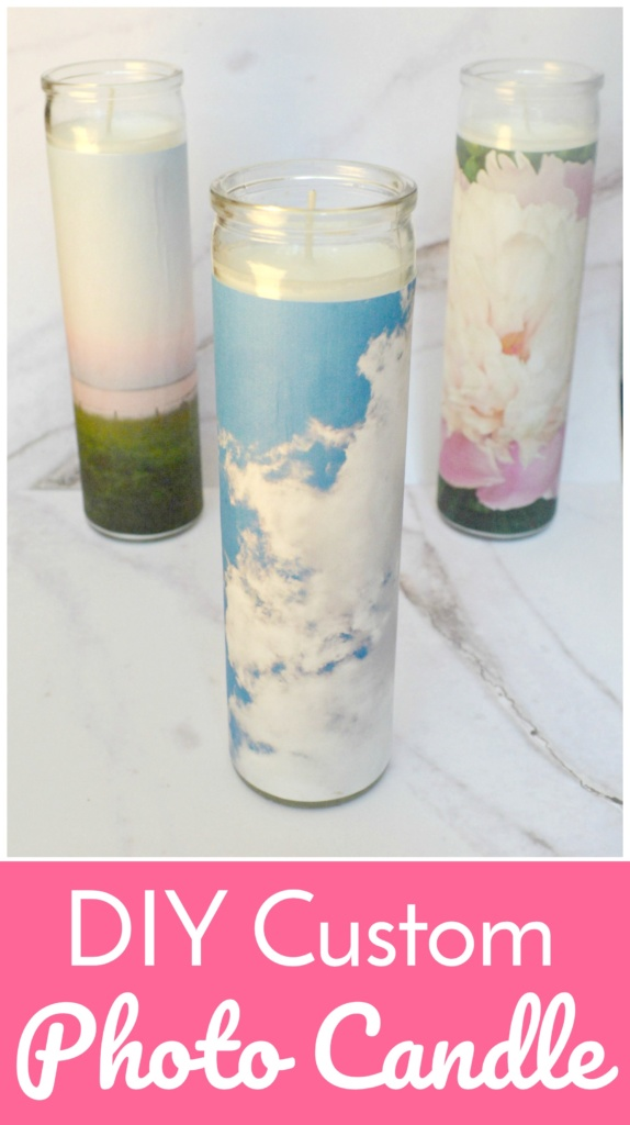DIY Custom Photo Candle