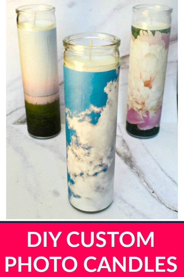 DIY Custom Photo Candles - Simple Home Decor from the Dollar Store!