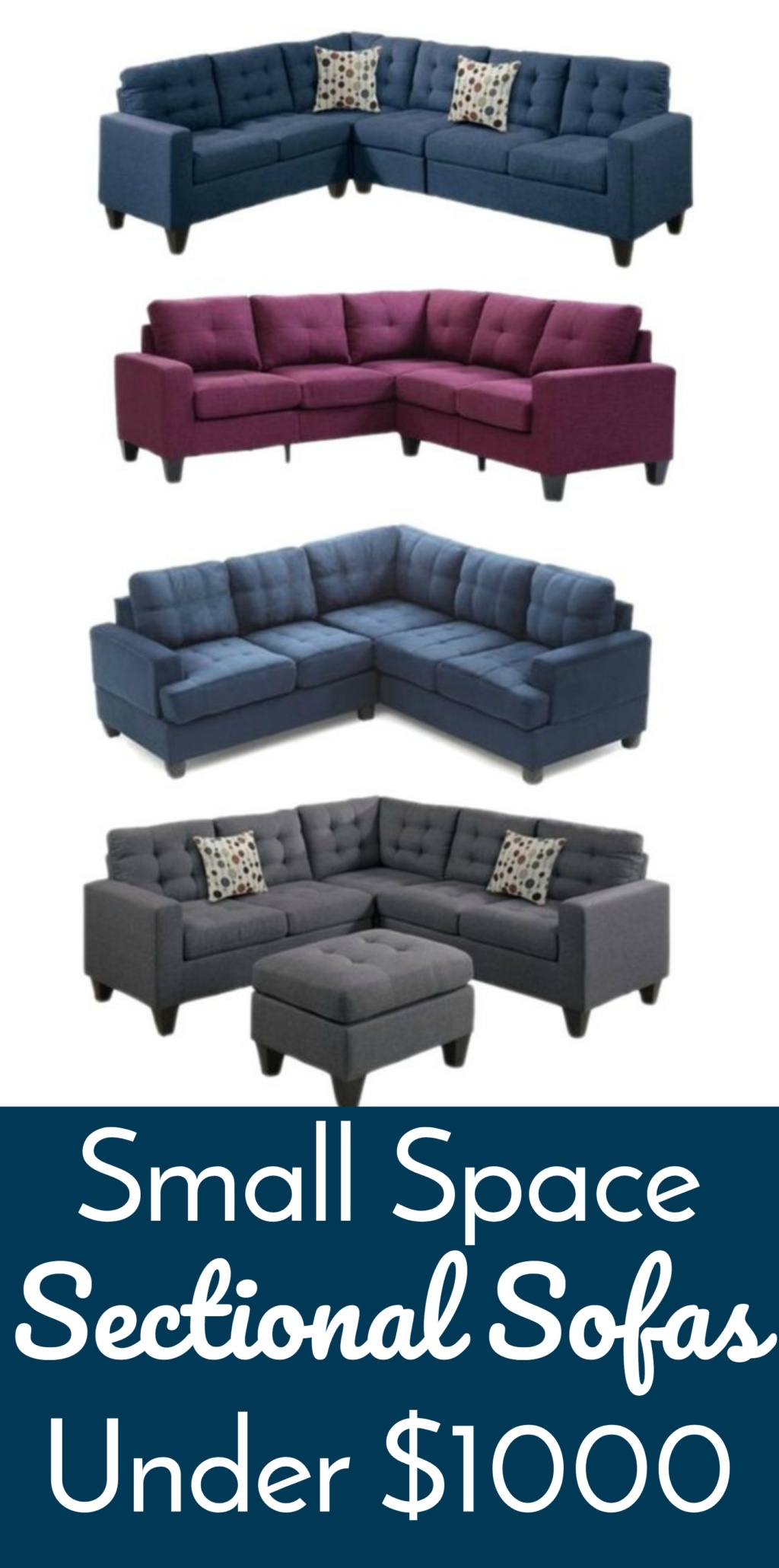Small Space Sectional Sofas under $1000 Lifestyle For Real Life