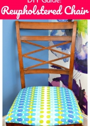DIY Guide Reupholstered Chair